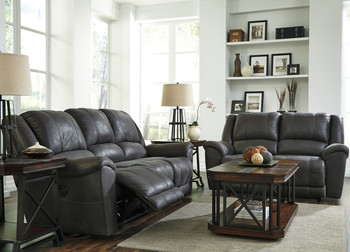 Bandit Gray Reclining Livingroom Set