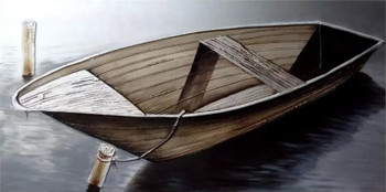 "Tied Boat 59"" x 30"" 3D Wall Art"