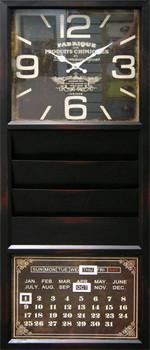 Rowen Wall Clock with Calendar