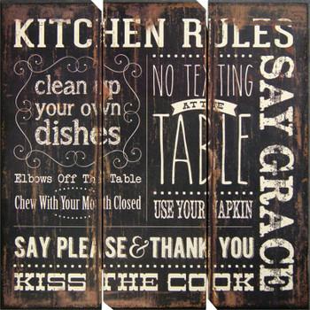 Akay Kitchen Rules Wall Art