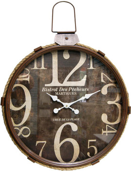 Lasso Brown Wall Clock