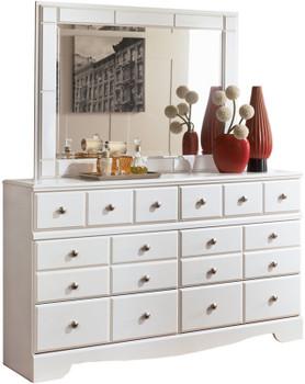 Dominic White Dresser & Mirror