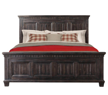 Santa Fe Weathered Black Oak finish 6pc Bedroom Set
