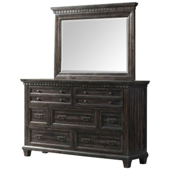 Santa Fe Weathered Black Oak finish Dresser & Mirror