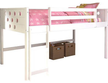 Bridgette White Twin Loft Bed