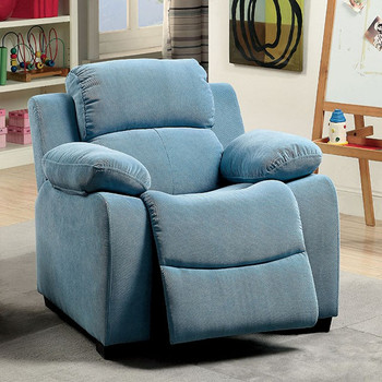 Delburne Blue Kids Reclining Chair
