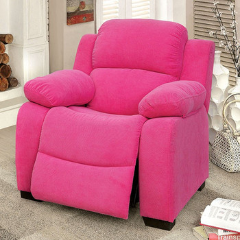 Delburne Pink Kids Reclining Chair