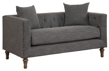 Aina Grey Fabric Loveseat