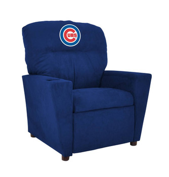 Chicago Cubs Blue Microfiber Kids Recliner