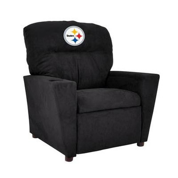 Pittsburgh Steelers Black Microfiber Kids Recliner
