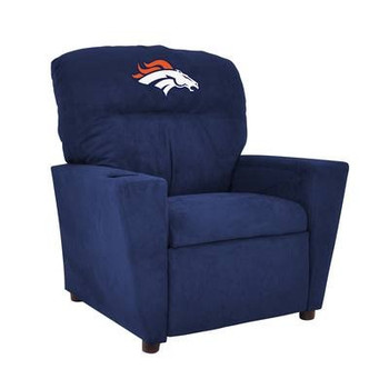 Denver Broncos Blue Microfiber Kids Recliner