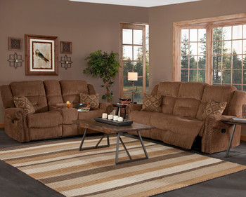 Binford Brown Reclining Livingroom Set