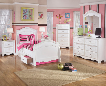 Marie Storage Sleigh Bedroom Set