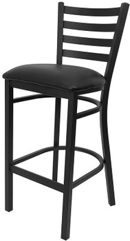 Frisco Black Bar Stool