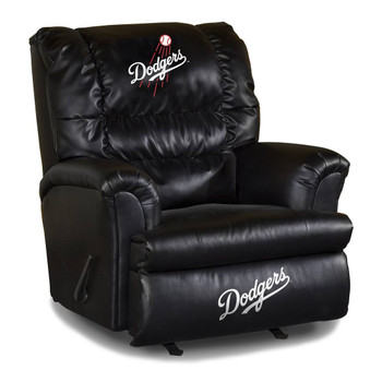 Los Angeles Dodgers Black Leather Big Boy Recliner