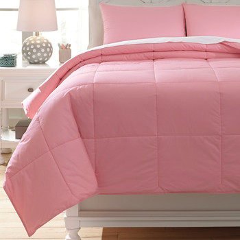 Plainfield Pink Top of Bed Set