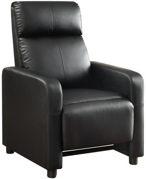 Colby Push-Back Black Recliner