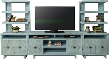 Baxter Rustic Blue Entertainment Center