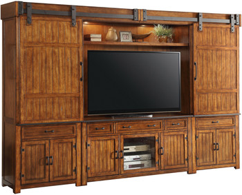 Cartwright Entertainment Wall with Sliding Doors