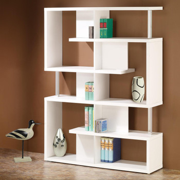 Courier White Bookshelf