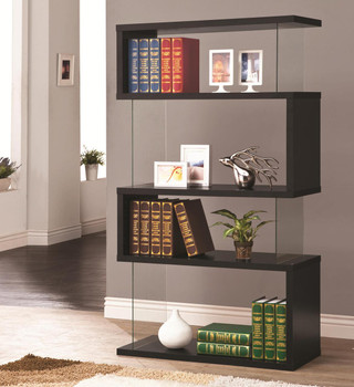 Finn Black Bookcase