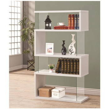 Finn White Bookcase