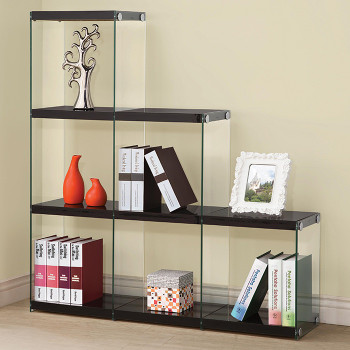 Finn Black Cubed Bookcase