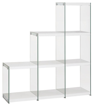 Finn White Cubed Bookcase