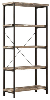 Hinge Natural and Black Bookcase