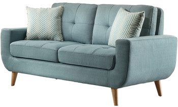 Jacky Teal Loveseat