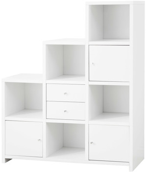 Lanton White Bookcase