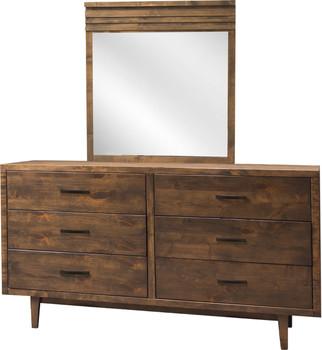 Cody Aged Brown Dresser & Mirror
