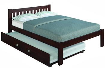 Ken Brown Platform Full Bed with Trundle