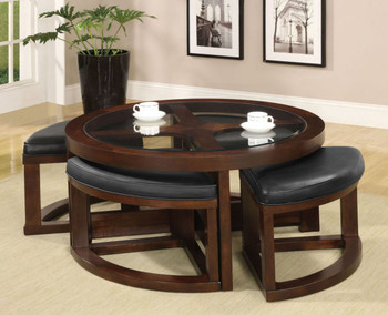 Yanichel Coffee Table with Ottomans