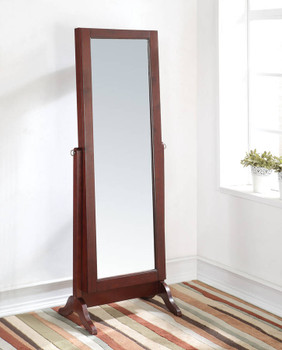 Lina Floor Mirror with Jewelry Storage - CB Furniture