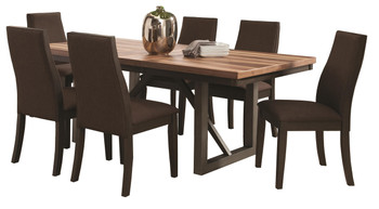 Amos Natural/Espresso 7 Pc Dining Set