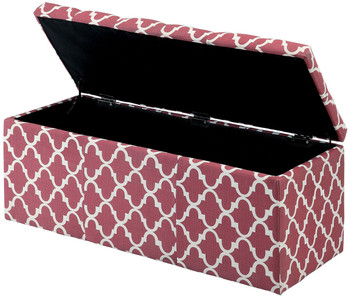 Fusion Red Storage Ottoman