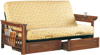 Ludovic Sofa Bed with Storage Arms