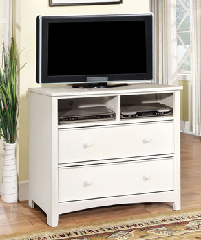 Connie Valden White Media Chest