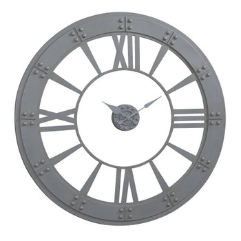 Moonshadow Gray Wall Clock