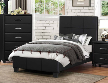 Eclipse Black Platform Bed