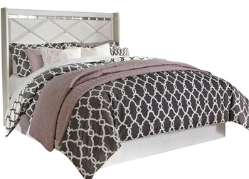 Rizvon Champagne Headboard Bed