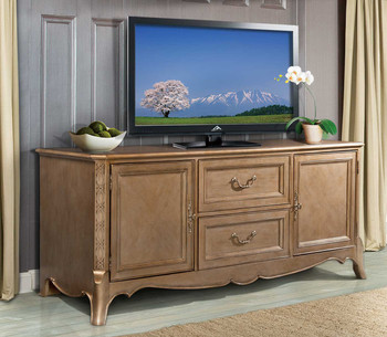 Ansley Gold Finish TV Stand