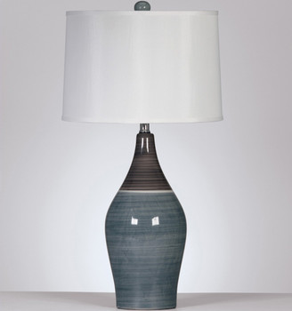 "Afzelia Multi-Gray 28""H Table Lamp"