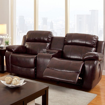 Bristol Dark Brown Motion Loveseat