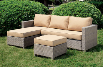 Ashby Patio Sectional w/ Ottoman