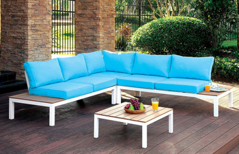 Aden Patio Sectional w/ Ottoman