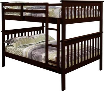 Derik Dark Brown Full Bunk Bed