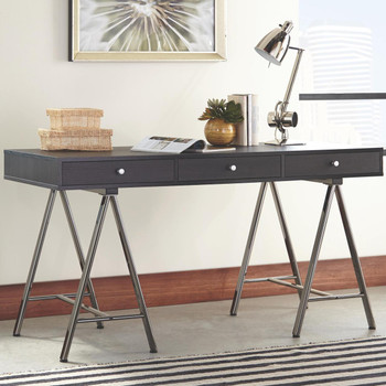 Cain Black & Gray Desk