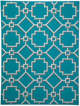 Grizabella Turquoise 5' x 6.7' Rug